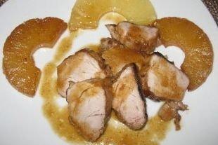 Receta de filetes de cerdo con piña
