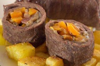Receta de filetes de ternera rellenos al horno