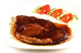 Receta de filetes en salsa de oporto y mostaza
