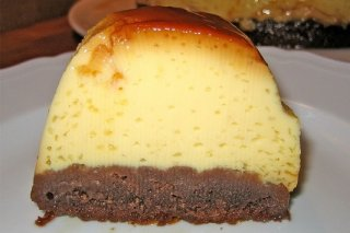 Receta de flan con base de chocolate