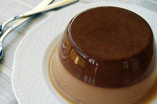 Receta de flan de agar y chocolate