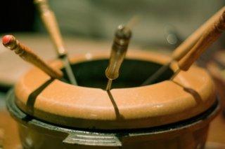 Receta de fondue de caramelo