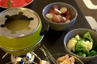 Receta de fondue de espárragos y bacon