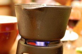Receta de fondue de tomate y aceitunas