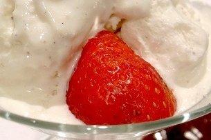 Receta de fresas con crema de requesón