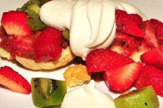 Receta de fresas con kiwi