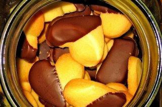 Receta de galletas de chocolate y vainilla