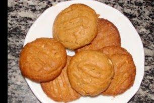 Receta de galletas de mantequilla de maní sin harina