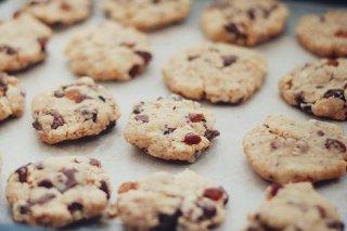 Receta de galletas de pasas