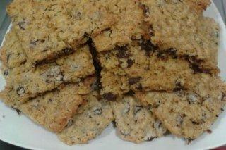 Receta de galletas integrales de avena