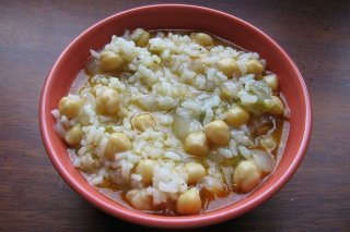 Receta de garbanzos con arroz