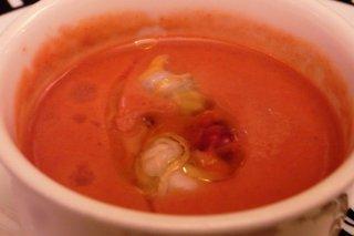 Receta de gazpacho de fresa con berberechos