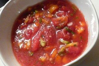 Receta de gazpacho de sandía y cebollino