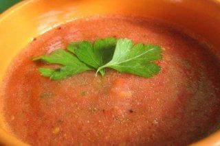 Receta de gazpacho de tomate y pepino