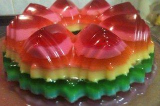 Receta de gelatina de colores