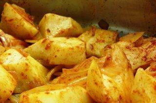 Receta de guarnición de patatas asadas a la pimienta