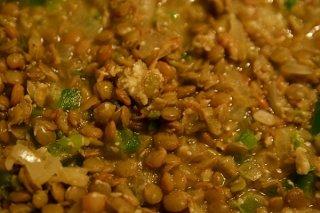 Receta de guiso de lentejas con arroz
