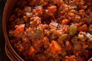 Receta de guiso de lentejas con tomate