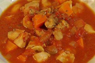 Receta de guiso de pollo y verduras