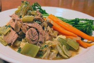 Receta de guiso de verduras con carne