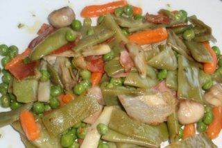 Receta de guiso de verduras
