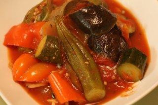 Receta de guiso picante de verduras