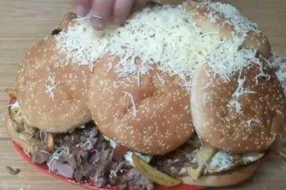 Receta de hamburguesa descomunal