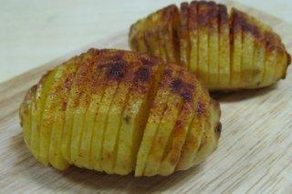 Receta de hasselback potatoes