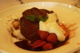 Receta de helado de chocolate con fresas
