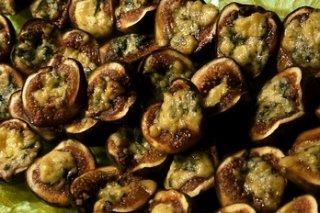 Receta de higos con queso roquefort al horno