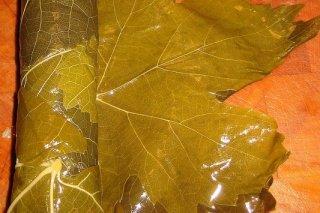 Receta de hojas de parra rellenas de carne