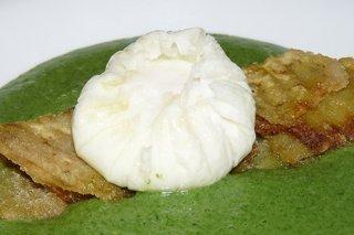 Receta de huevo escalfado con verduras
