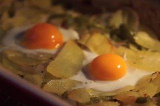 Receta de huevos al horno con patatas