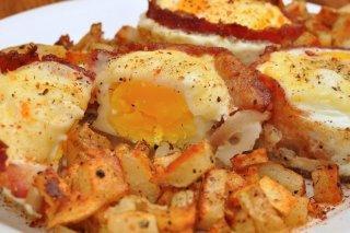 Receta de huevos con bacon