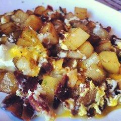 Receta de huevos estrellados con jamón ibérico
