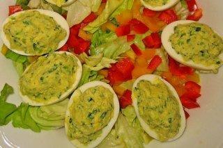 Receta de huevos rellenos con calabacín
