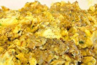 Receta de huevos revueltos con carne picada