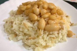 Receta de judías blancas con arroz