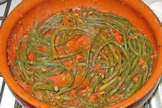 Receta de judías verdes con tomate al ajillo