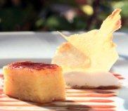 Receta de lasaña de piña con sorbete de coco
