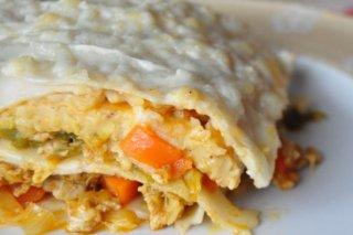 Receta de lasaña de pollo y verduras