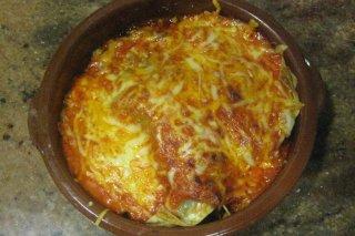 Receta de lasaña de setas con jamón