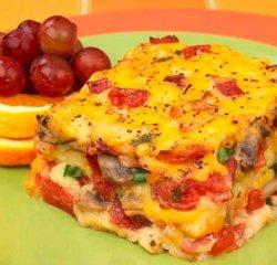 Receta de lasaña de tocino, tomate y queso