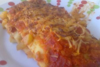 Receta de lasaña de verduras con tomate casero