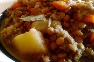 Receta de lentejas con patatas y zanahorias