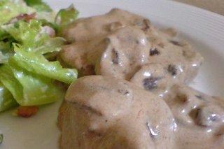 Receta de lomo en salsa de champiñones