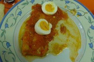 Receta de lomos de bacalao con tomate