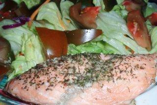 Receta de lomos de salmón al microondas