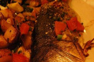 Receta de lubina al horno con verduras