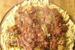 Receta de macarrones con setas y carne picada